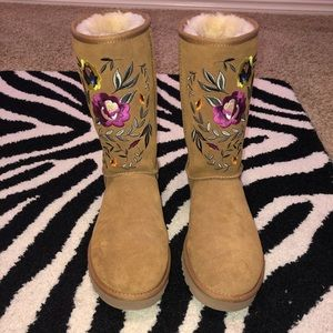"UGG Shoes - Ugg ""Juliette"" Embroidered Boots"